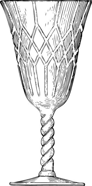 クリスタル製のゴブレット